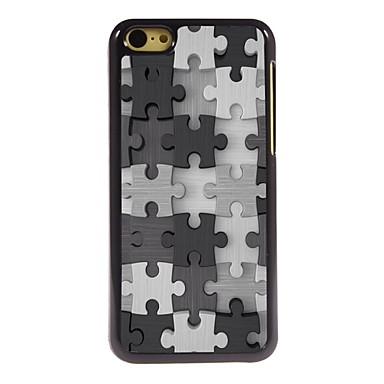 quebra-cabeça design de alumínio caso de alta qualidade para iphone 5c
