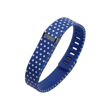 tamanho grande azul com pontos brancos acaba banda + fecho para o Flex Fitbit