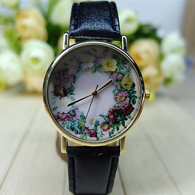 Mulheres Relógio de Moda Quartzo PU Banda Flor
