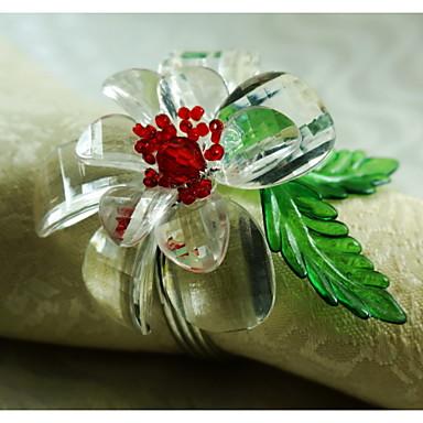 Λουλούδι Ακρυλικό Δαχτυλίδι Πετσέτας Υψηλή ποιότητα Επιτραπέζια διακοσμητικά