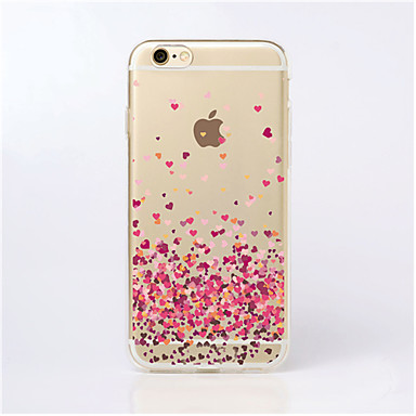 maycari® στρωμένος με αγάπη διαφανές μαλακό TPU πίσω περίπτωση για το iPhone 6 συν