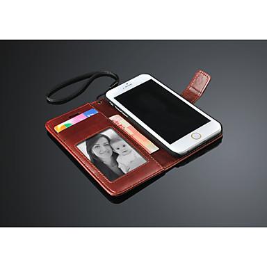 Voor iPhone 6 hoesje / iPhone 6 Plus hoesje Portemonnee / met standaard / Flip hoesje Volledige behuizing hoesje Effen kleur Hard PU-leer