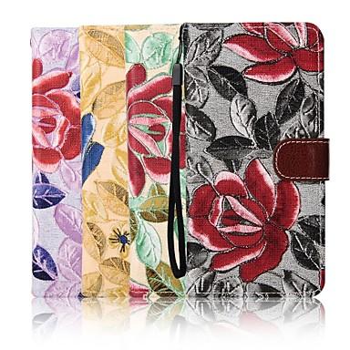 iphone 7 mais estojo de couro carteira padrão de bordado tela de 5,5 polegadas com suporte para iphone 6s 6 mais