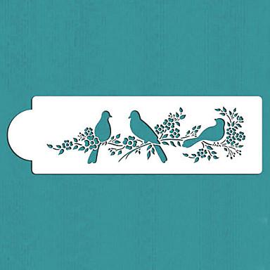 valentine's geschenk liefde vogels taart kant stencil, st-295
