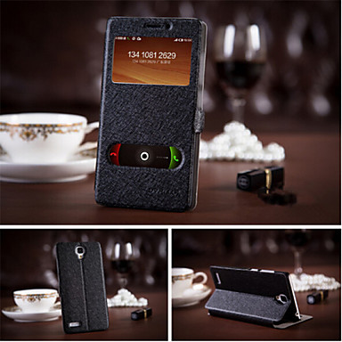 Para Samsung Galaxy Capinhas Com Suporte / com Visor Capinha Corpo Inteiro Capinha Cor Única Couro PU Samsung S5