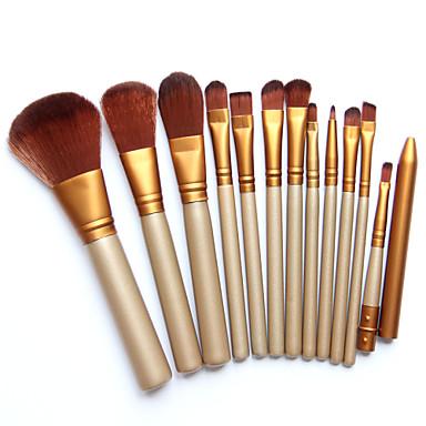 12Foundationkwast / Contour Brush / Brush Sets / Blushkwast / Oogschaduwkwast / Lippenkwast / Wenkbrauwkwast / Eyelinerkwast / Vloeibare