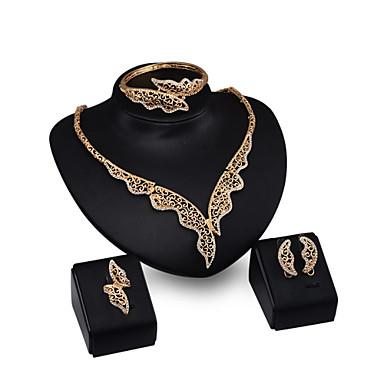 Damskie Zestawy biżuterii Rhinestone Ślub Impreza Stop Skrzydła / Feather Motyl Zwierzę Pierścionki 1 parę kolczyków 1 Bransoletka