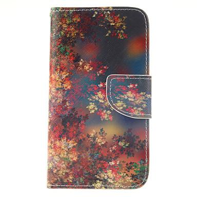 Capinha Para Samsung Galaxy Samsung Galaxy Capinhas Porta-Cartão Carteira Com Suporte Flip Capa Proteção Completa Flor PU Leather para J5