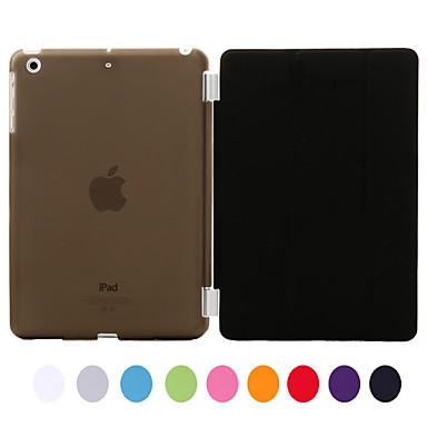Pouzdro Uyumluluk iPad Mini 3/2/1 Satandlı Oto Uyu / Uyan Tam Kaplama Kılıf Tek Renk PU Deri için iPad Mini 3/2/1