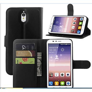 Voor Huawei hoesje / P8 Portemonnee / Kaarthouder / met standaard hoesje Volledige behuizing hoesje Effen kleur Hard PU-leer HuaweiHuawei