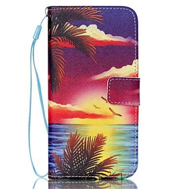 zeegezicht patroon pu lederen telefoon geval voor Galaxy S3 / S4 / S5 / s6 / s6 edge / galaxy s6 rand plus / s3 mini / mini s4 / s5 mini