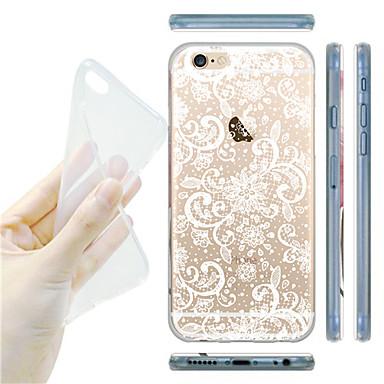 maycari® dromerige bloemen transparante TPU achterkant van de behuizing voor de iPhone 6 / iphone 6s