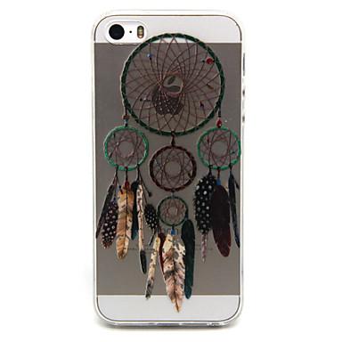 Voor iPhone 5 hoesje Hoesje cover Transparant Patroon Achterkantje hoesje Dromenvanger Zacht TPU voor iPhone SE/5s iPhone 5