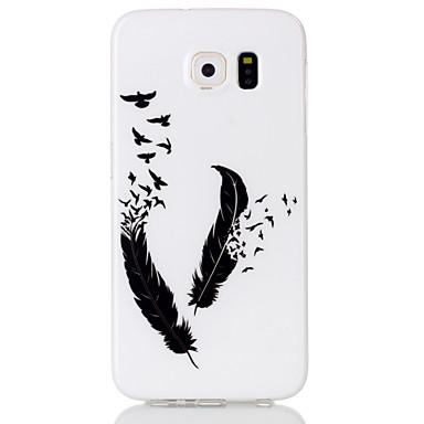 Para Samsung Galaxy Capinhas Case Tampa Estampada Capa Traseira Capinha Penas PUT para Samsung Galaxy S6 edge S6 S5 S4 S3
