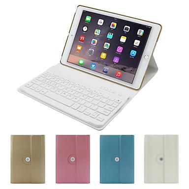 Voor Hoesje cover met standaard met toetsenbord Flip 360° rotatie Volledige behuizing hoesje Effen Kleur Hard PU-leer voor iPad Air