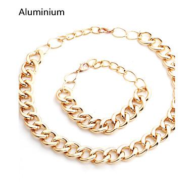 Κοσμήματα Κολιέ / Βραχιόλι Καθημερινά / Causal / Αθλητικά Επάργυρο 1set Γυναικεία / Άντρες Χρυσαφί / Ασημί Δώρα Γάμου