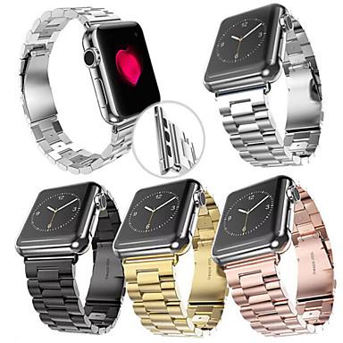 Horlogeband voor Apple Watch Series 3 / 2 / 1 Apple Polsband Butterfly Buckle Roestvrij staal