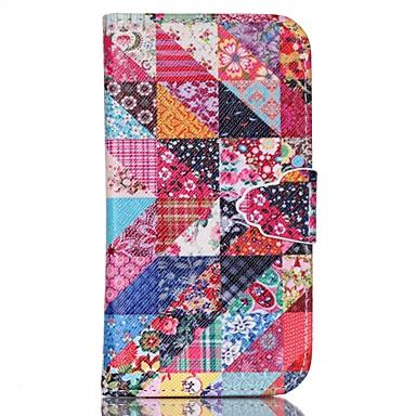 hoesje Voor Samsung Galaxy Samsung Galaxy hoesje met standaard Volledig hoesje Geometrisch patroon PU-nahka voor S6 edge plus S6 S5 Mini