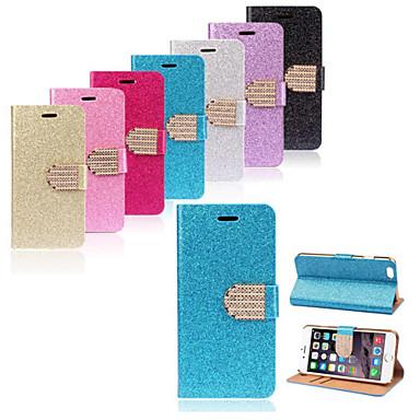 yms®luxury do brilho de Bling carteira aleta fivela caso de corpo inteiro para iphone 6 mais (cores sortidas)