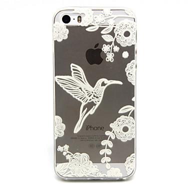 Para Capinha iPhone 5 Case Tampa Transparente Estampada Capa Traseira Capinha Animal Macia PUT para iPhone SE/5s iPhone 5