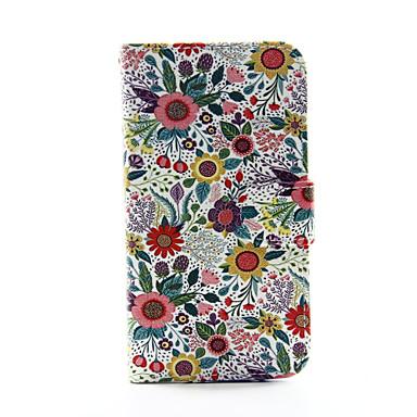 Voor Samsung Galaxy hoesje Portemonnee / Kaarthouder / met standaard / Flip hoesje Volledige behuizing hoesje Bloem PU-leer SamsungS5 /