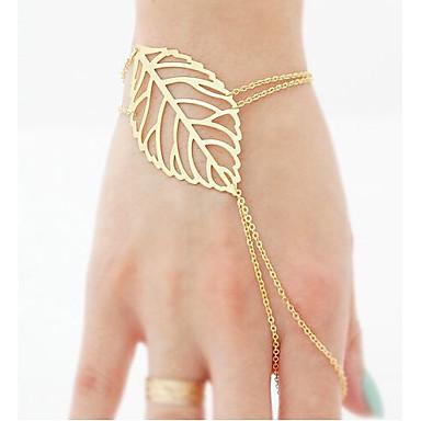 Armbanden met ketting en sluiting Uniek ontwerp Modieus Sieraden Goud Sieraden Voor Feest Verjaardag 1 stuks