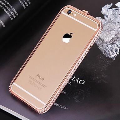 Για Θήκη iPhone 6 / Θήκη iPhone 6 Plus Στρας tok Αντικραδασμική tok Μονόχρωμη Σκληρή Μεταλλικό iPhone 6s Plus/6 Plus / iPhone 6s/6