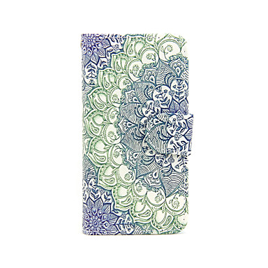 broccoli patroon pu lederen full body case met kaartslot en staan ​​voor iphone 5c