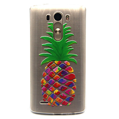 Capinha Para LG G3 LG Capinha LG Transparente Capa traseira Fruta Macia TPU para LG Spirit/LG C70 H422