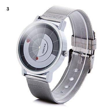 זול שעוני גברים-בגדי ריקוד גברים שעון יד ייחודי Creative צפה קווארץ כסף אנלוגי 2# 3# 4#