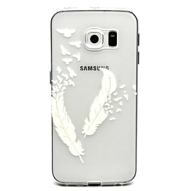 Capinha Para Samsung Galaxy Samsung Galaxy Capinhas Transparente Capa traseira Penas TPU para S6 edge plus S6 edge S6 S5 Mini S5