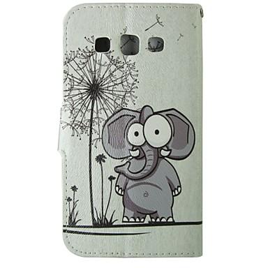 Para Samsung Galaxy Capinhas Porta-Cartão / Carteira / Com Suporte / Flip Capinha Corpo Inteiro Capinha Elefante Couro PU SamsungGrand