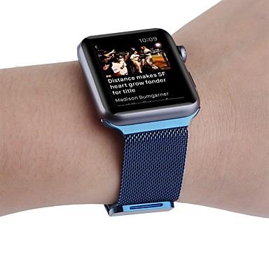 Horlogeband voor Apple Watch Series 3 / 2 / 1 Apple Polsband Milanese lus Roestvrij staal