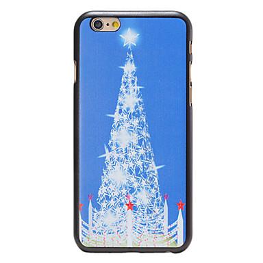 Estilo do Natal do teste padrão branco da árvore da estrela pc tampa traseira dura para o iPhone 6