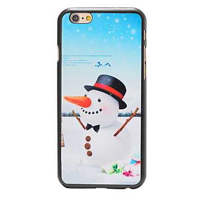 kerst stijl wortel neus sneeuwpop patroon pc harde rugdekking voor iPhone 6