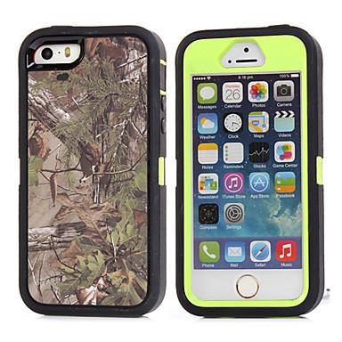 Para Capinha iPhone 5 Antichoque Capinha Capa Traseira Capinha Côr Camuflagem Macia TPU iPhone SE/5s/5