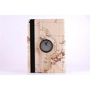 mapa do mundo 360⁰ caso stand design função de alta qualidade bolsa de couro pu para o ar ipad (cores sortidas)