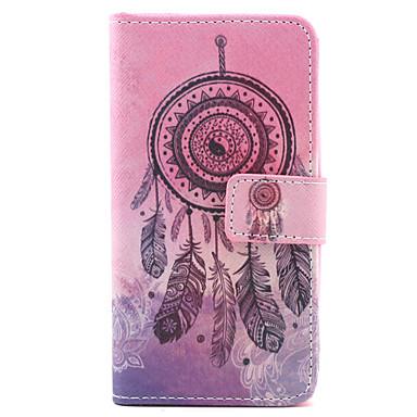 Para Capinha LG Case Tampa Porta-Cartão Carteira Com Suporte Flip Corpo Inteiro Capinha Filtro dos Sonhos Rígida Couro PU para LG
