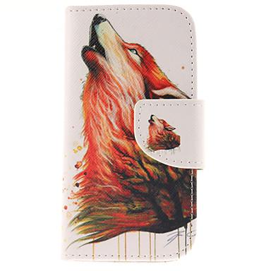 Voor Samsung Galaxy hoesje Portemonnee / Kaarthouder / met standaard / Flip hoesje Volledige behuizing hoesje Dier PU-leer Samsung S3 Mini