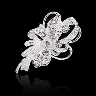 Γυναικεία Καρφίτσα Λουλουδάτο Μοντέρνα Κρύσταλλο Προσομειωμένο διαμάντι Λουλούδι Κοσμήματα Για Γάμου Πάρτι