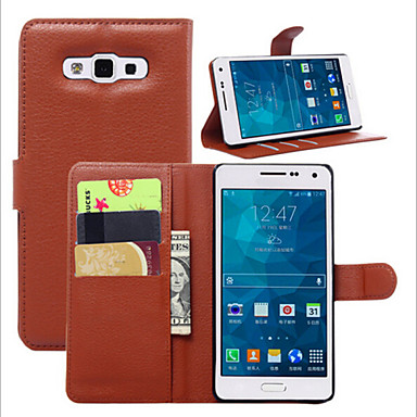 Para Samsung Galaxy Capinhas Porta-Cartão / Com Suporte / Flip / Estampada / Magnética Capinha Corpo Inteiro Capinha Cor Única Couro PU