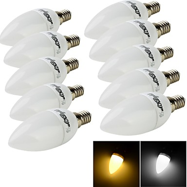 YouOKLight 200 lm E14 LED-kaarslampen C35 10 leds SMD 2835 Decoratief Warm wit Koel wit AC 220-240V