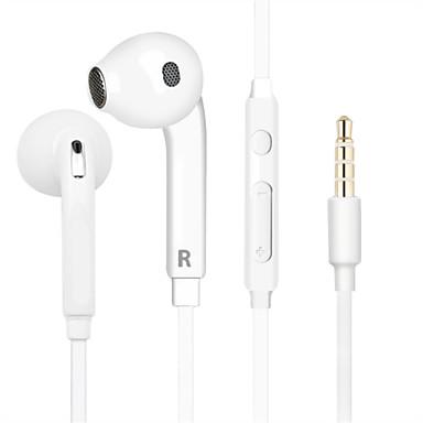 billige Headset og hovedtelefoner-EARBUD Ledning Hovedtelefoner Plast Mobiltelefon øretelefon Støj-isolering / Med Mikrofon / Med volumenkontrol Headset