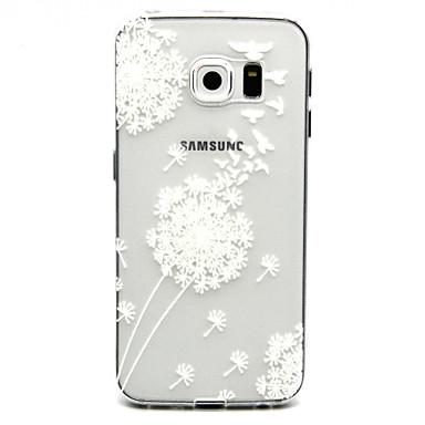 Voor Samsung Galaxy hoesje Hoesje cover Transparant Achterkantje hoesje Paardebloem TPU voor Samsung Galaxy S6 edge plus S6 edge S6 S5