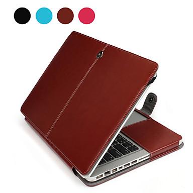MacBook Θήκη Μονόχρωμο PU δέρμα για MacBook Pro 15 ιντσών