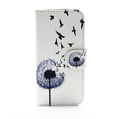 Case For Apple iPhone 5 Case iPhone 6 iPhone 6 Plus Card Holder Wallet with Stand Full Body Cases Dandelion Hard PU Leather for iPhone 6s