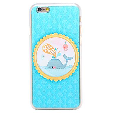 baleia açúcar padrão pc transparente Capa para iPhone 6 mais