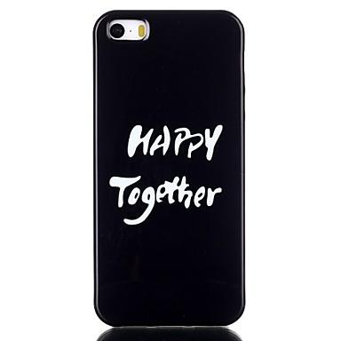 Para Capinha iPhone 5 Case Tampa Estampada Capa Traseira Capinha Palavra / Frase Macia PUT para iPhone SE/5s iPhone 5