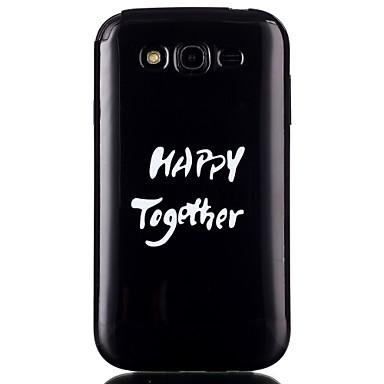 Para Samsung Galaxy Capinhas Case Tampa Estampada Capa Traseira Capinha Palavra / Frase PUT para Samsung Galaxy Grand Prime Grand Neo