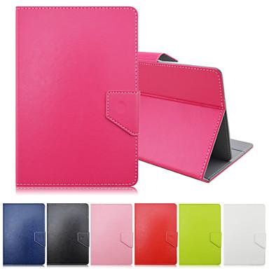 padrão de cores sólido de alta qualidade de couro pu com suporte para o caso tablet de 7 polegadas universal